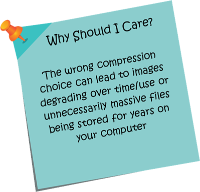 Document scanning Compression methods